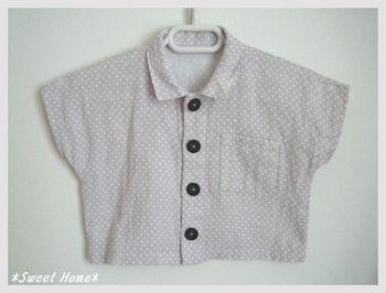 ダブルガーゼのシャツ。