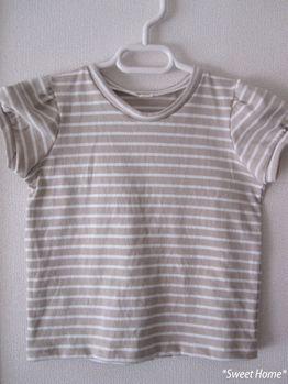 パフスリーブTシャツ。