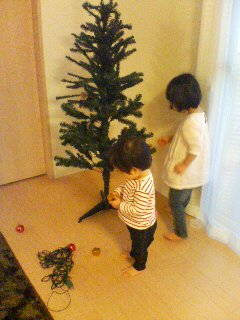クリスマスツリー。