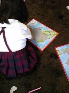 日本地図。